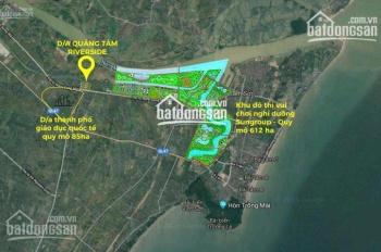 Cần tiền bán gấp lô A Quảng Tâm 100m2 giá 9,2 triệu/m2, LH chủ nhà 0949.716.605