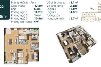 Đánh giá căn góc CH22 chung cư TSG Lotus Sài Đồng