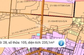 Bán gấp lô đất trả nợ ngân hàng, diện tích 235m2, 50m2 thổ cư sổ đỏ trao tay