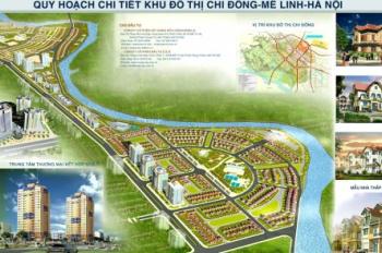 Chính chủ bán đất dự án Chi Đông, Mê Linh, mặt đường 35m đẹp nhất dự án