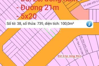 Bán đất KDC Lavender City Vĩnh Cửu, sổ riêng thổ cư 100%, lô D8/28 100m2, 5x20m, giá thương lượng