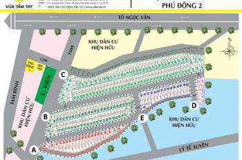 Chuyên bán đất thổ cư KDC Phú Đông 2, Thủ Đức. Giá chỉ 1,9 tỷ/nền DT 60m2 sổ cá nhân, LH 0931022221