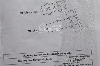 Nhà chính chủ cần bán hẻm 35 Đỗ Thừa Luông, DT 4x11.4m giá 4.1 tỷ Q. Tân Phú