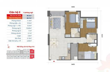 Tặng 49 triệu & voucher thiết kế, căn 3 PN- 85.2 m2, tầng 5-16, hướng Đông Nam, 2.5 tỷ (VAT) Quận 8