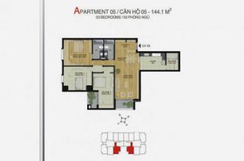 Bán căn hộ chung cư Mipec 229 Tây Sơn, 144m2 - 35tr/m2, LH 0984 272 900