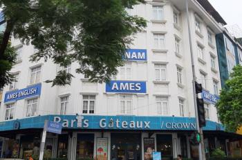 Cho thuê nhà mặt phố 88 Ô Chợ Dừa DT 300m2 * 6 tầng, 1 tum mặt tiền rộng 17m, thang máy, 450tr/th