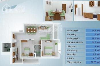 Chính chủ bán căn hộ Thủ Thiêm Star - Quận 2, DT 80m2 có nội thất. Giá 2.22 tỷ (thương lượng)