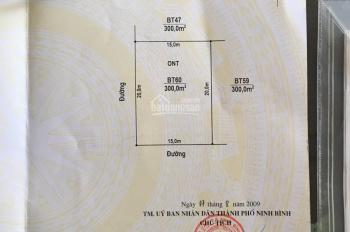 Bán đất đầu ve nhà vườn Ninh Tiến 3, 300m2, hướng Tây, Nam, giá 20,5tr/m2
