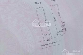 Nhà 2 tầng kiệt ô tô Núi Thành đoạn gần 30/4