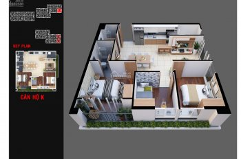 Cần bán căn hộ 3 phòng ngủ, view Đầm Sen dự án Diamond Lotus Lake View giá 2,63 tỷ