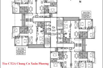 Cần bán căn hộ chung cư 6C1 DT 93.6m2 chung cư Xuân Phương Quốc Hội giá bán 20.5tr/m2. 0904999135