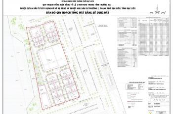 Đất TTTM Bạc Liêu Riverside, thanh toán 5%, ký hợp đồng HĐMB trực tiếp CĐT, không qua trung gian