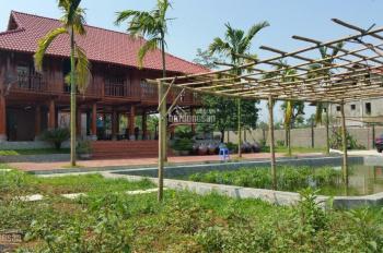 Bán 1440m2 khuôn viên hoàn thiện Lương Sơn Hòa Bình, vuông góc, phẳng lỳ