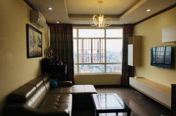 Cho thuê căn hộ cao cấp Hoàng Anh Giai Việt 115m2, 2 phòng ngủ full nội thất, tầng cao, giá 11tr/th