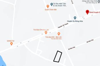 Cho thuê đất trung tâm thị xã Đông Hòa, tỉnh Phú Yên. Mặt tiền đường Lê Trung Kiên (nối dài)