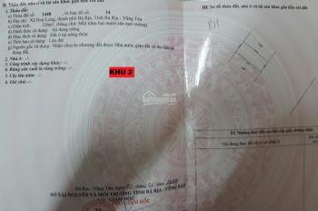 Bán 2 lô đất tỉnh Bà Rịa Vũng Tàu, gần trung tâm hành chính biển, hoa hồng 1.5% cho ACE