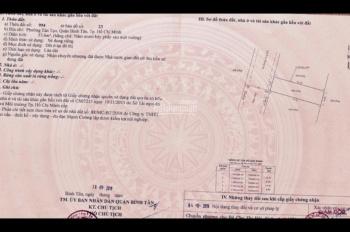 Bán đất thổ cư 100% đối diện trường cấp 3 Bình Tân, p. Tân Tạo, hồng riêng giá 2,55 tỷ
