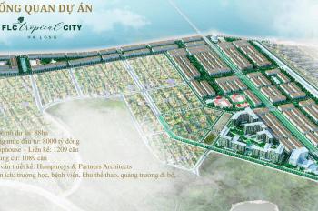Bán đất  FLC Tropical City Hạ Long phân khu Hawai mặt vịnh, giá 15tr/m2. E Cường 0965641993
