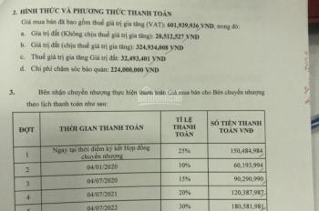 Chính chủ kẹt tiền bán lỗ hoa viên Bình An giá gốc CDT, 56m2, 8 huyệt, giá 601tr, TT 3 năm không ls