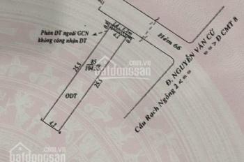 Bán cặp nhà trục chính hẻm 66 đường Nguyễn Văn Cừ, trệt 1 lầu, dt: 8,5x25,5m