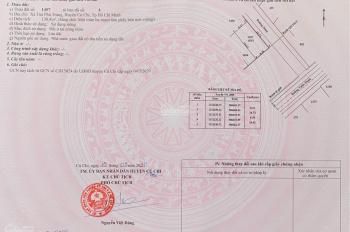 Sang nhượng lại lô góc 138m2, 2 mặt tiền đường Hồ Văn Tắng, Tân Phú Trung, giá 1,2 tỷ