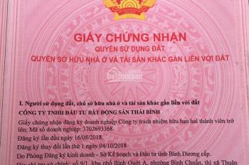 Bán đất nền đã có sổ ngay KCN Nam Tân Uyên, CK 2 chỉ vàng. 0818.628.135