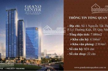 Độc quyền rổ hàng 3 căn Grand Center Quy Nhơn View tầng đẹp nhất vừa tung ra cuối cùng.0908 832 834