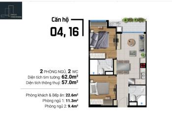 Bán nhanh căn hộ River Panorama 2PN 2WC 62m2 - 64,5m2 giá từ 2,250 tỷ - 2,450 tỷ