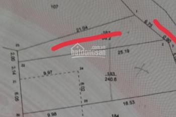Lô góc 2 mặt tiền rộng DT 240m2. Mặt tiền 9m Xã Bình Yên, gần CNC Hòa Lạc