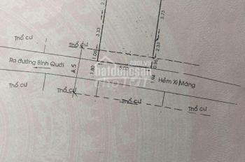 Nhà 5x7m 1 Trệt 1 Lửng Hẻm 480 Đường Bình Qưới Gía 1.35 tỷ ( TL )