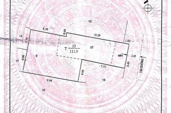 MT Nguyễn Thái Học, P. Tân Thành, Q. Tân Phú: 4,45m (nở hậu 7,7m) x 17,7m = 111,9m2. Giá 9 tỷ