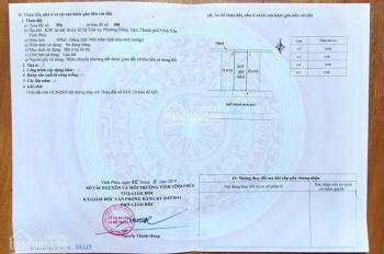 Chính chủ bán lô đất 108m2 (6x18) phố Trịnh Hoài Đức, KDC Tỉnh Ủy, Vĩnh Yên. LH: 0986.454.393