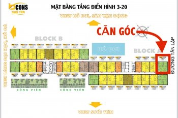 Căn góc Bcons Suối Tiên 1tỷ650, MT view Metro - cam kết giá tốt nhất thị trường. LH: 0919802727