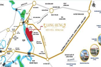 Tôi cần bán lô đất đối diện ủy ban ND tại dự án Long Hưng, 113m2, ngân hàng hỗ trợ 70%, giá 1,55 tỷ