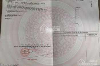 Đất nền ngay TT phường Hắc Dịch, thị xã Phú Mỹ, giá chỉ từ 712 - 970 triệu/nền. Sổ cầm tay