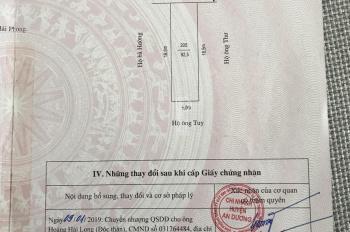 Bán lô đất 92,5m2 tuyến 3 đường Máng Nước khu Bãi Huyện Vân Tra. Nằm cách đường Máng Nước tầm 40m
