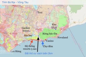 Bán đất thổ cư gần siêu dự án Hưng Thịnh Hồ Tràm Complex, giá 12tr/m2, sổ hồng riêng