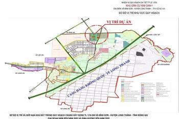 Đất nền SHR ngay khu tái định cư bình sơn Long Thành, Đồng Nai, mặt tiền đường ĐT 769, 599tr/nền