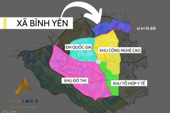 Bán lô đất tại Hòa Lạc, Thạch Thất, cạnh khu công nghệ cao Hòa Lạc, giá chỉ 690tr, sẵn sổ