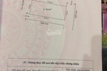 Bán đất lô góc 2 mặt tiền 75,3m2 tại Vĩnh Khê, An Đồng, An Dương, Hải Phòng. Giá đầu tư sinh lời