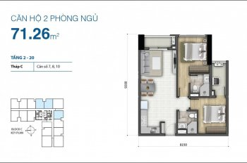 Cần bán căn hộ Botanica Premier, 108 Hồng Hà, 2PN, 71m2 full nội thất giá 4 tỷ