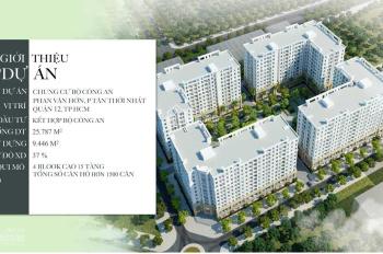 Booking nhà ở xã hội Phường Tân Thới Nhất, Quận 12 - giá chỉ 20,5tr/m2 (đã bao gồm nội thất + VAT)
