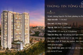 Chủ đầu tư Minh Thông mở bán ra thị trường 333 căn hộ dự án Precia Quận 2. DT 49,51,56,60,71,97,102