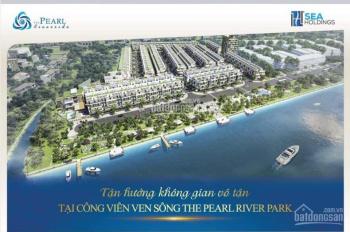 Gần Waterpoint Long An, nhà phố the pearl riverside, 1 trệt 2 lầu, sân thượng. Giá 2.7 tỷ có Vat.