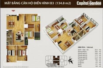 Chính chủ muốn bán gấp căn hộ 4 ngủ chung cư Capital Garden 102 Trường Chinh, LH: 0967321259