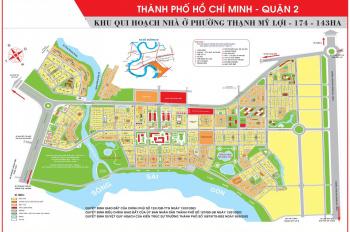 Bán nền đất góc 2 mặt tiền đường Lâm Quang ky 25m dự án phú nhuân - Thạnh Mỹ Lợi - Quận 2