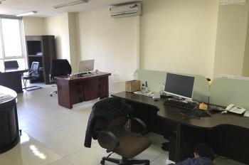 Cho thuê văn phòng Đại Cồ Việt 90m2, sàn thông, có điều hòa, thang máy, rèm VP, giá 10 triệu/tháng