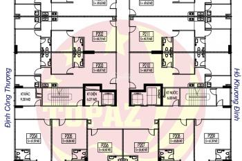 A. Vinh 0904999135 cần bán gấp chung cư C14 Bộ Quốc Phòng căn hộ 808, DT 65.86m2. Giá bán 20.5tr/m2
