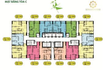 Bán căn 1805 tòa C chung cư Intracom Riverside, DT: 60,2m2, giá: 23tr/m2 (bao tên). 0795768768