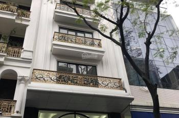 Bán nhà mặt phố Trần Quốc Hoàn, Phan Văn Trường, Cầu Giấy 80m2 x 8 tầng mt 6m, Hầm để xe, giá 33 tỷ
